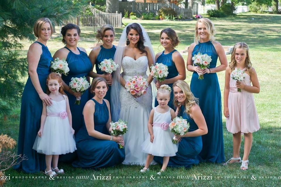 Nicole Cecala And Bridal Party
